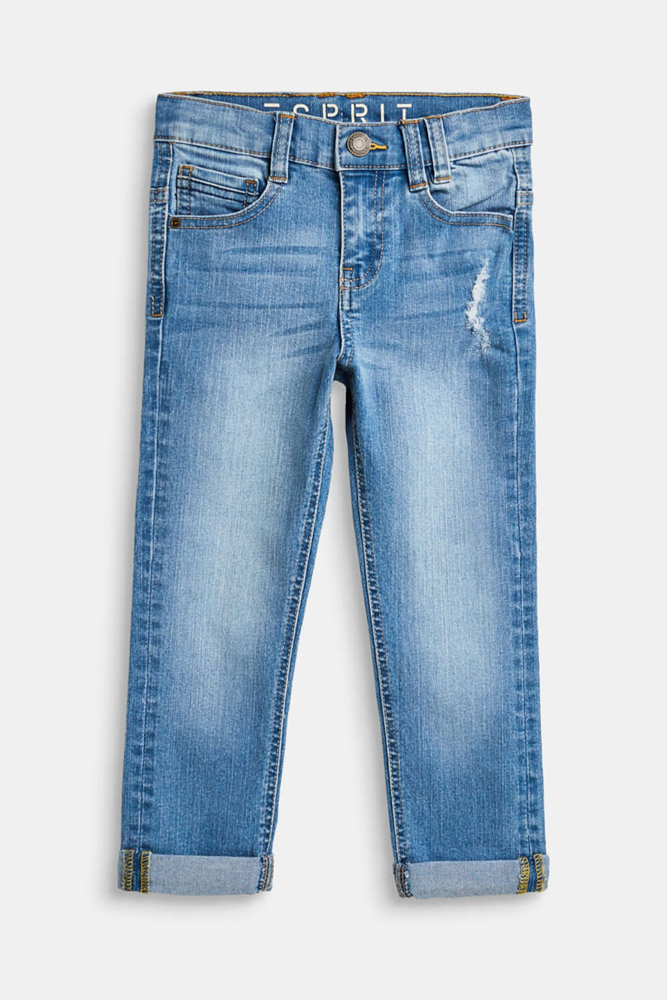 Esprit - Vintage-style stretch jeans, adjustable waistband