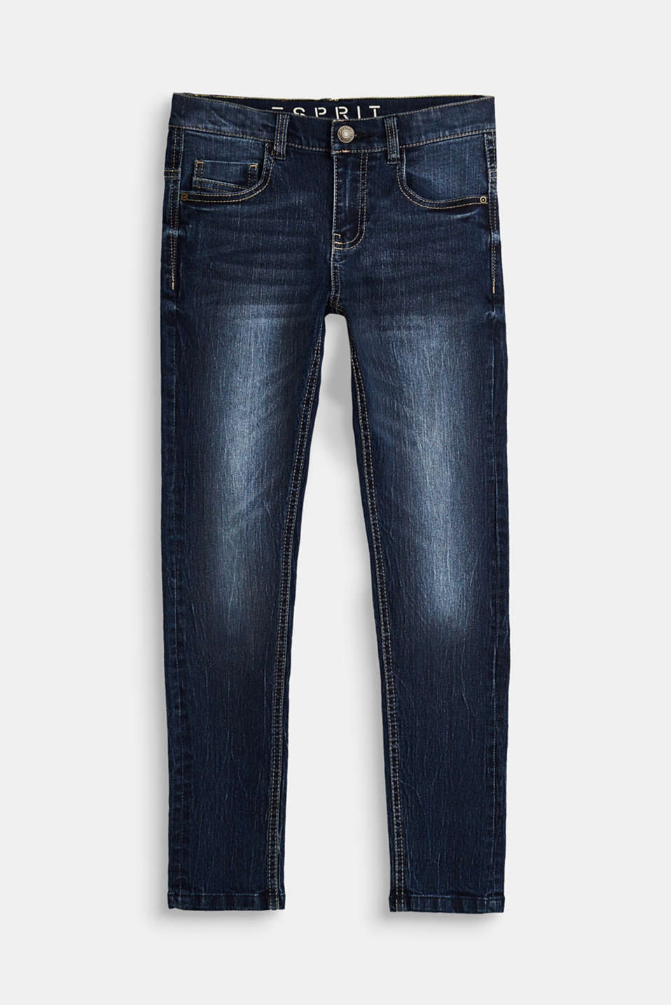 Esprit - Superstretch-Jeans mit Used-Waschung