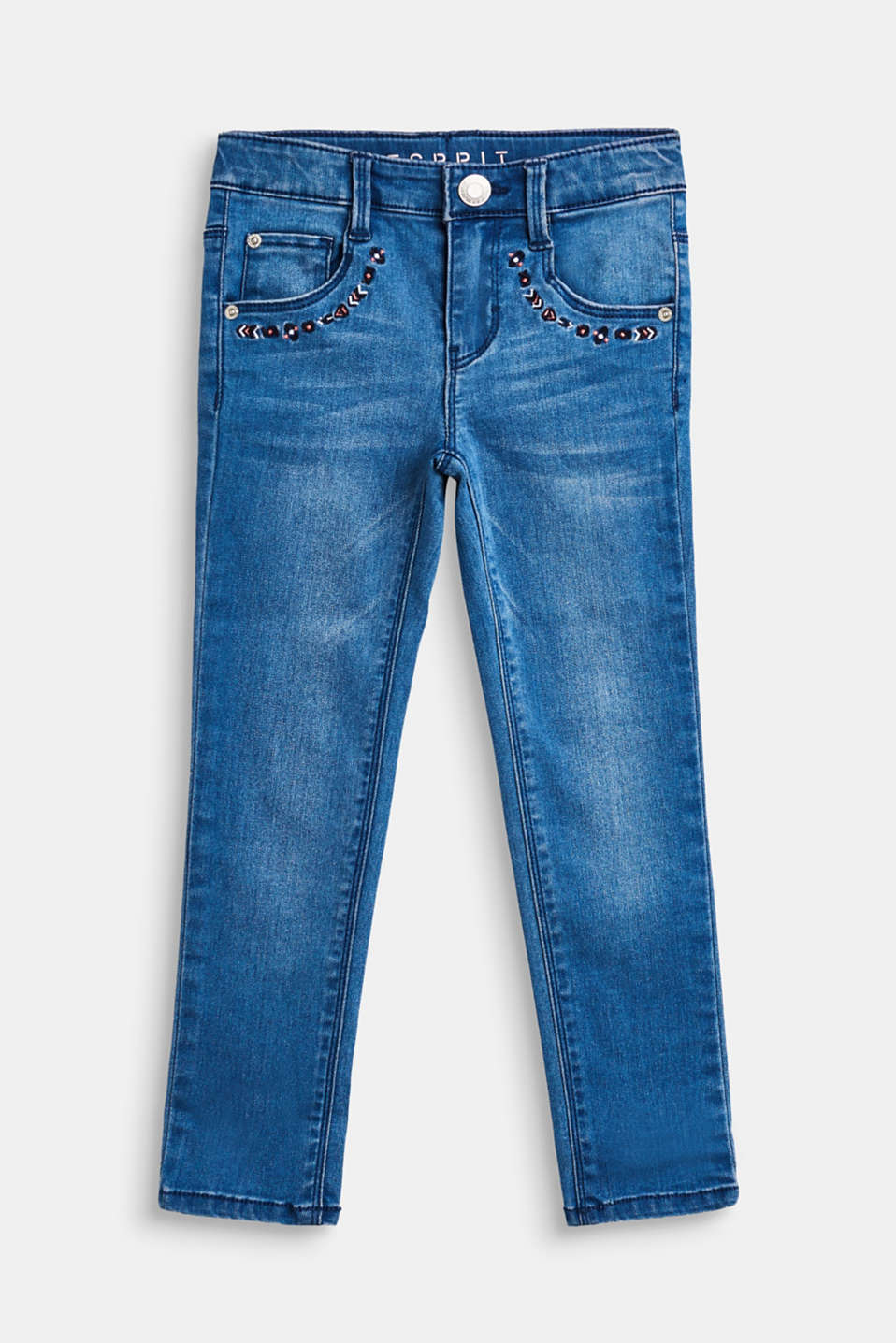 Esprit - Stretch jeans with tribal embroidery