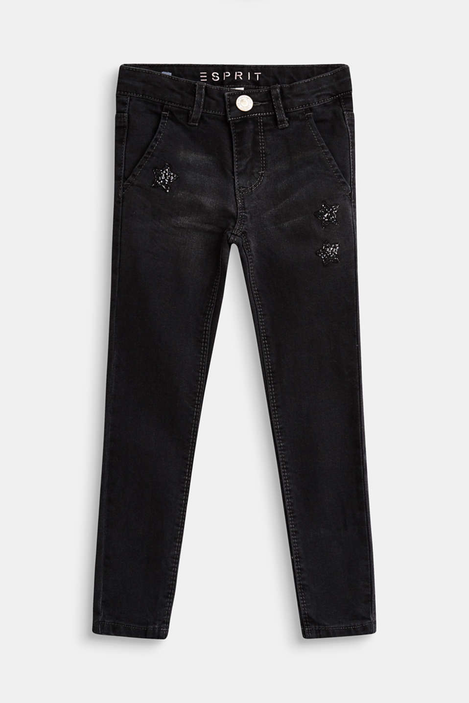 Esprit - Stretch jeans with glittery stars