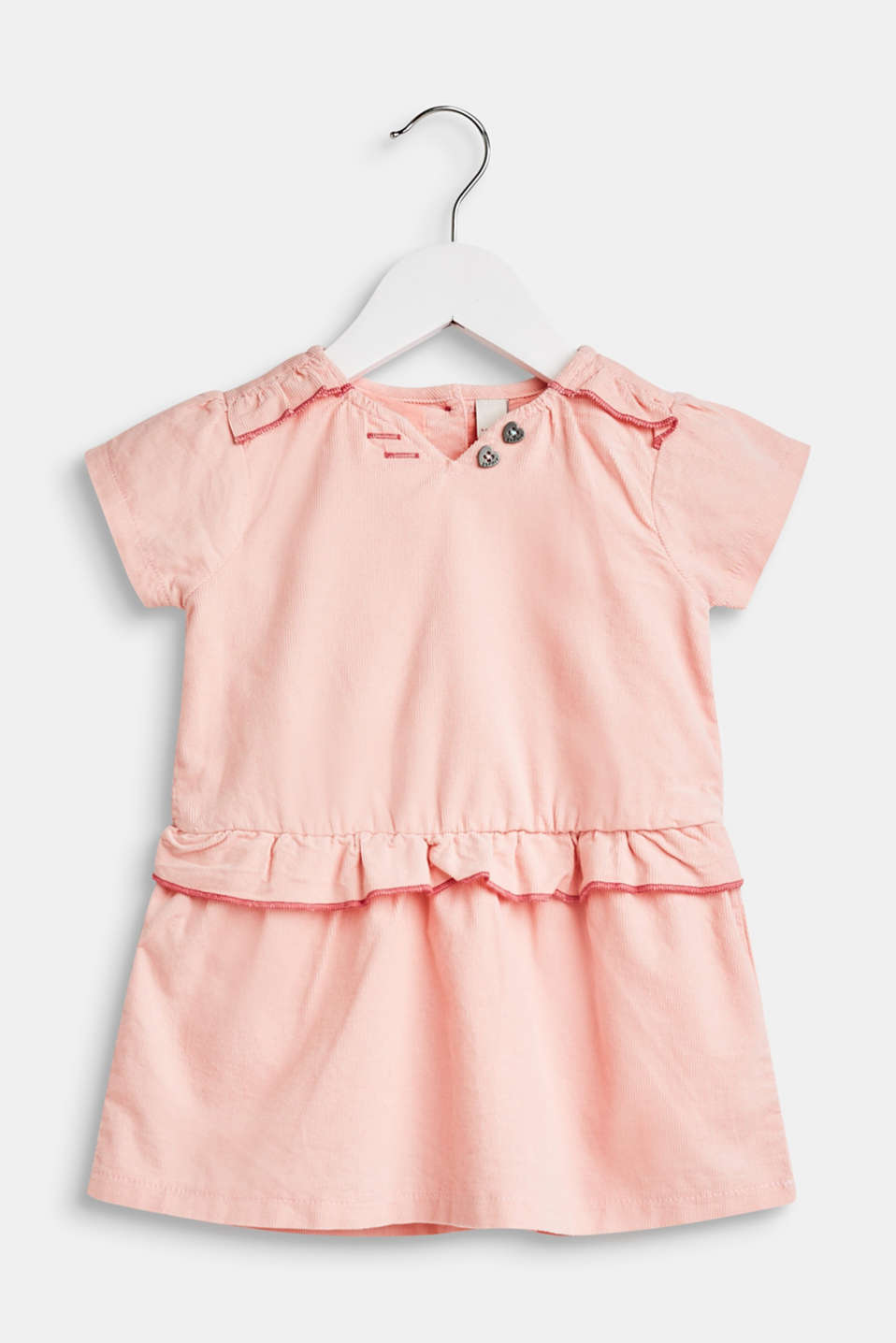 Esprit - Dress in needlecord, 100% cotton