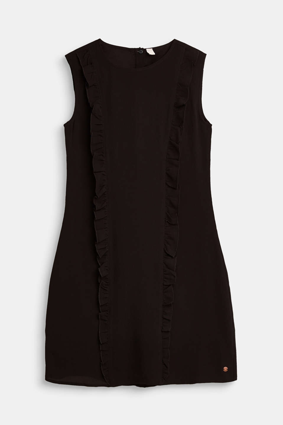 Esprit - Formal crêpe dress with frills