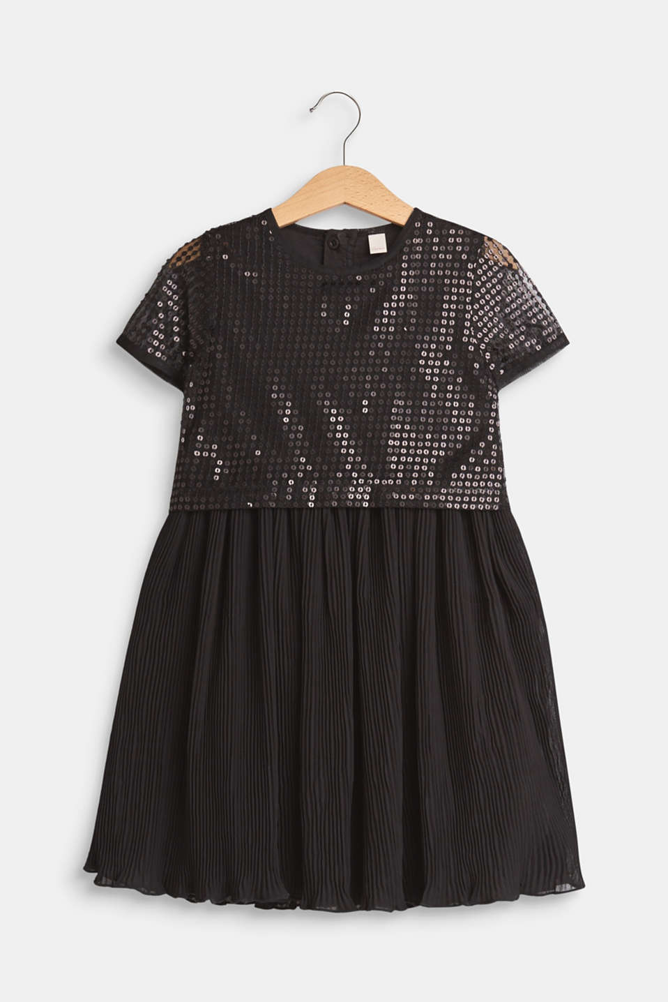 Esprit - Dress with a sequinned top