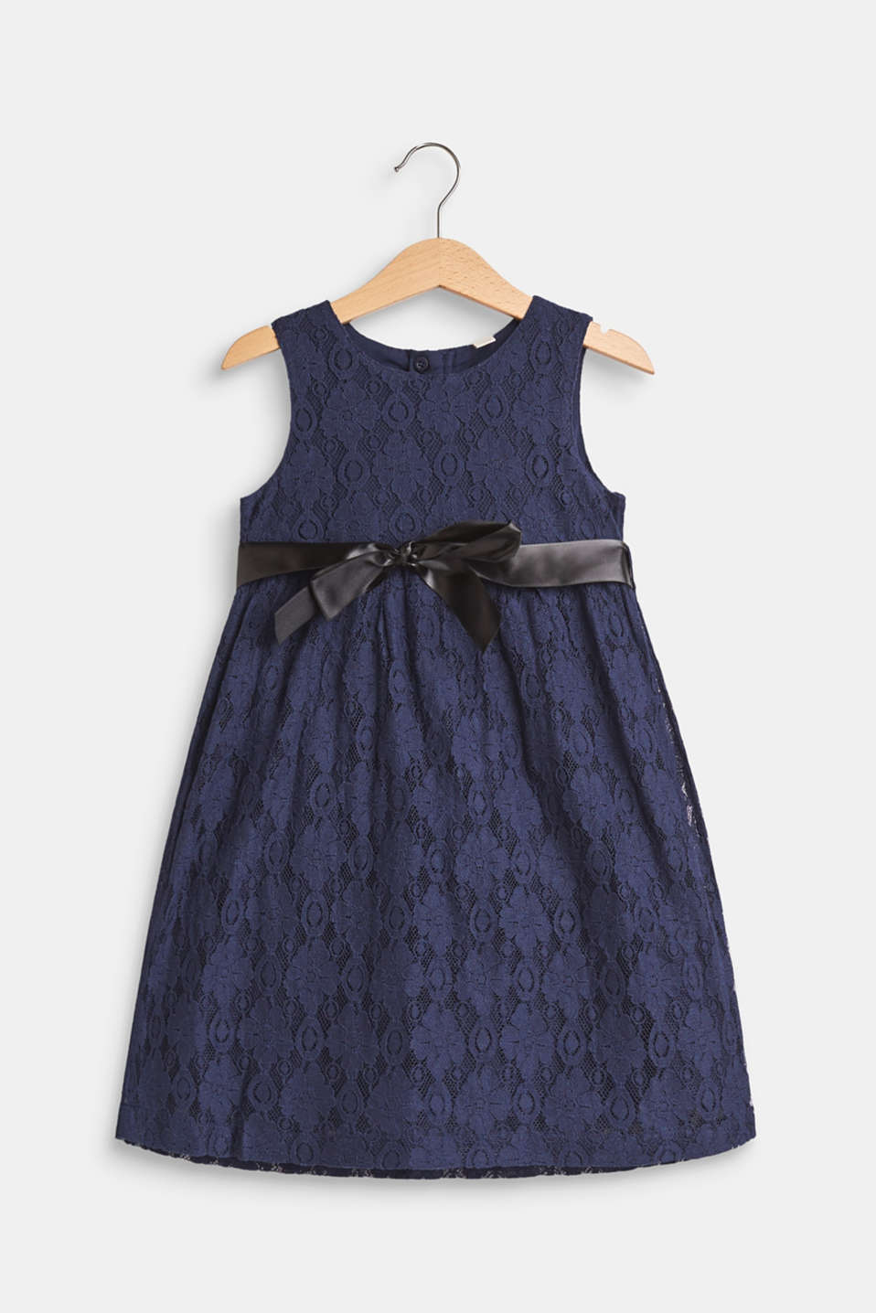 Esprit - Lace dress with a satin bow