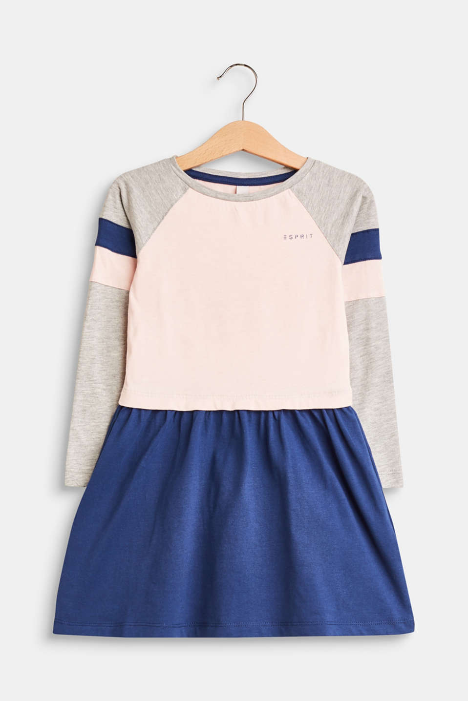 Esprit - Long sleeve colour block dress