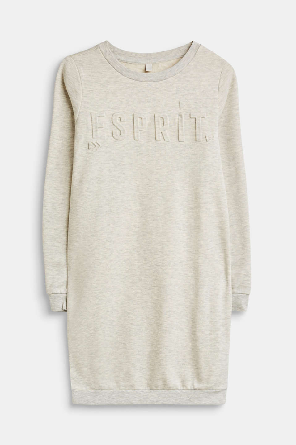 Esprit - Melange sweatshirt dress with a 3D logo