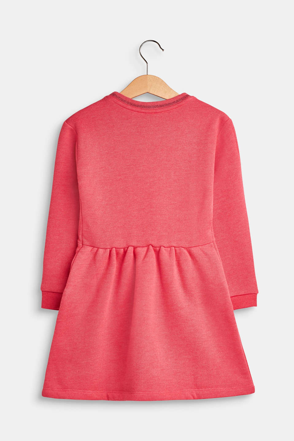 Sweatshirt dress with glitter details