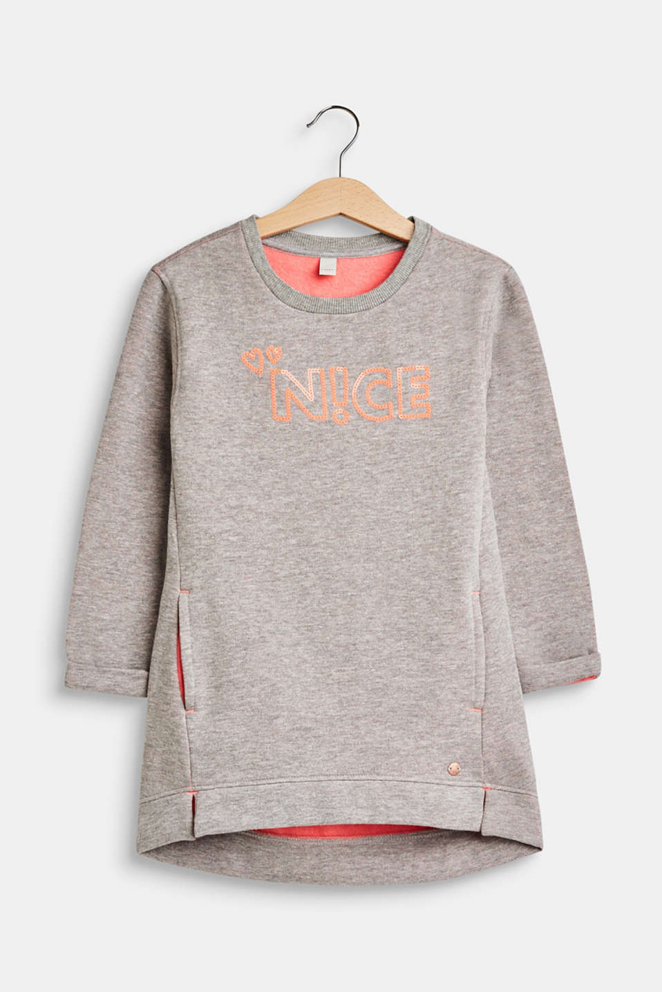 Esprit - Sweatshirt dress with appliqué