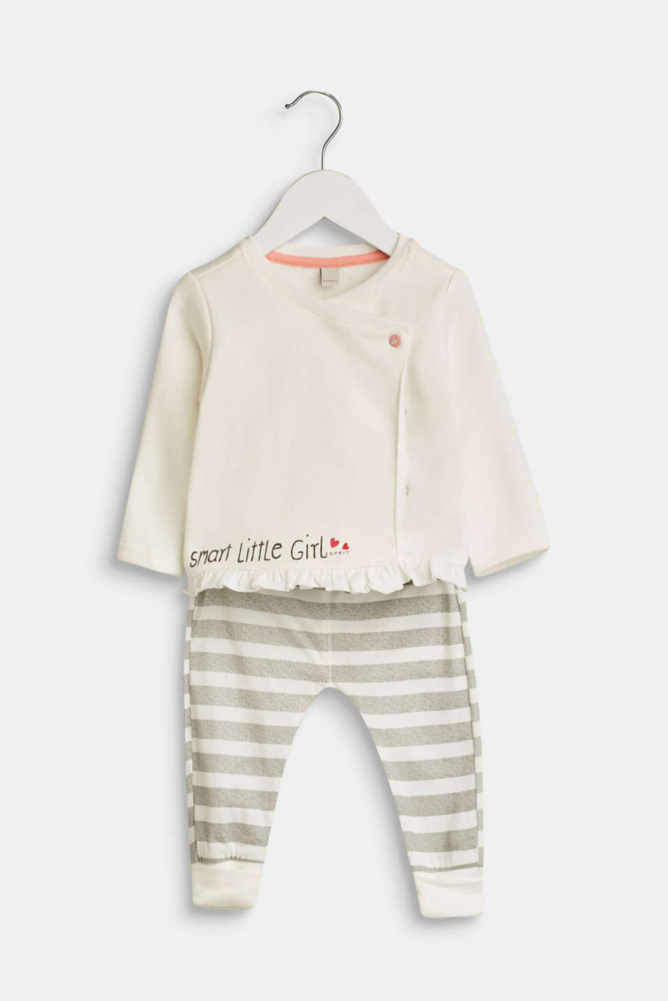 Esprit - Set: cardigan and trousers containing organic cotton