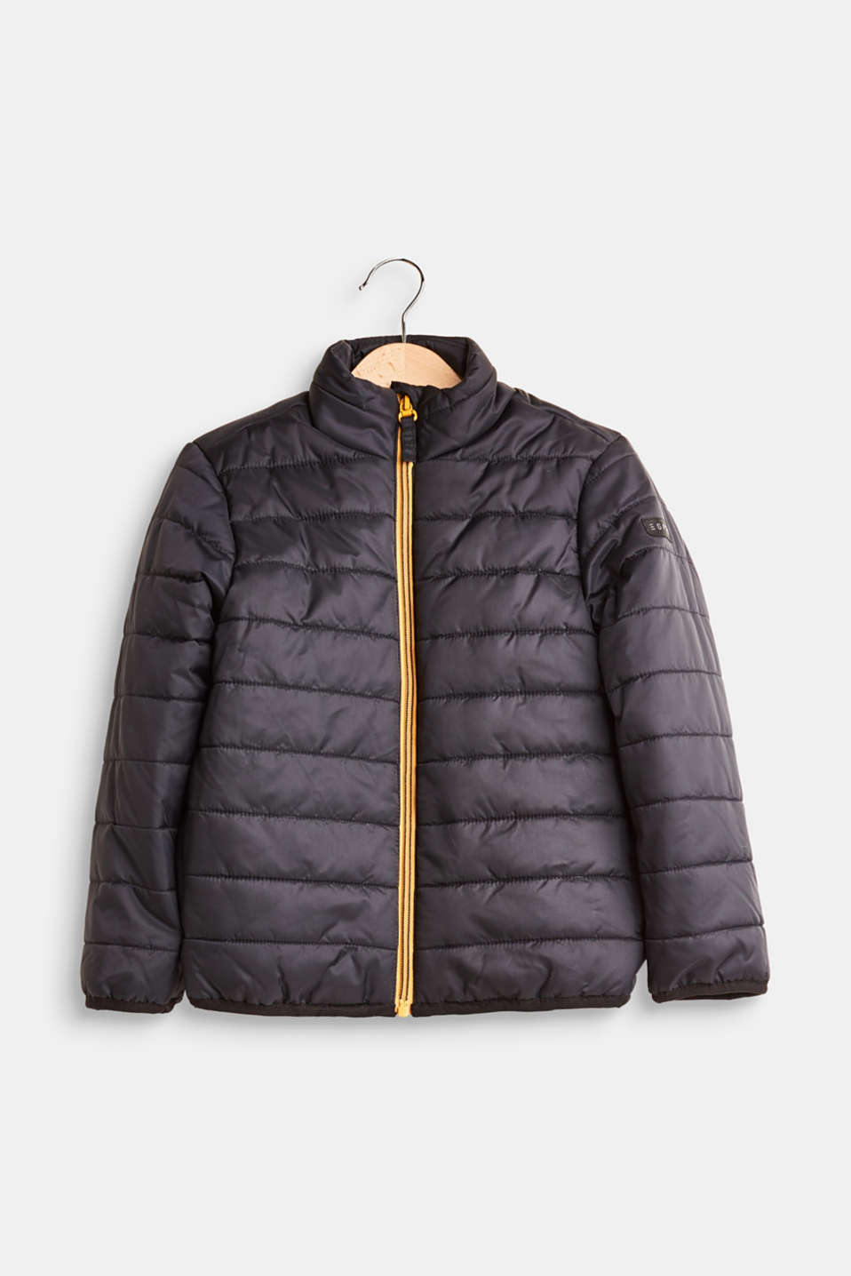 Esprit - Padded, quilted jacket with a stand-up collar