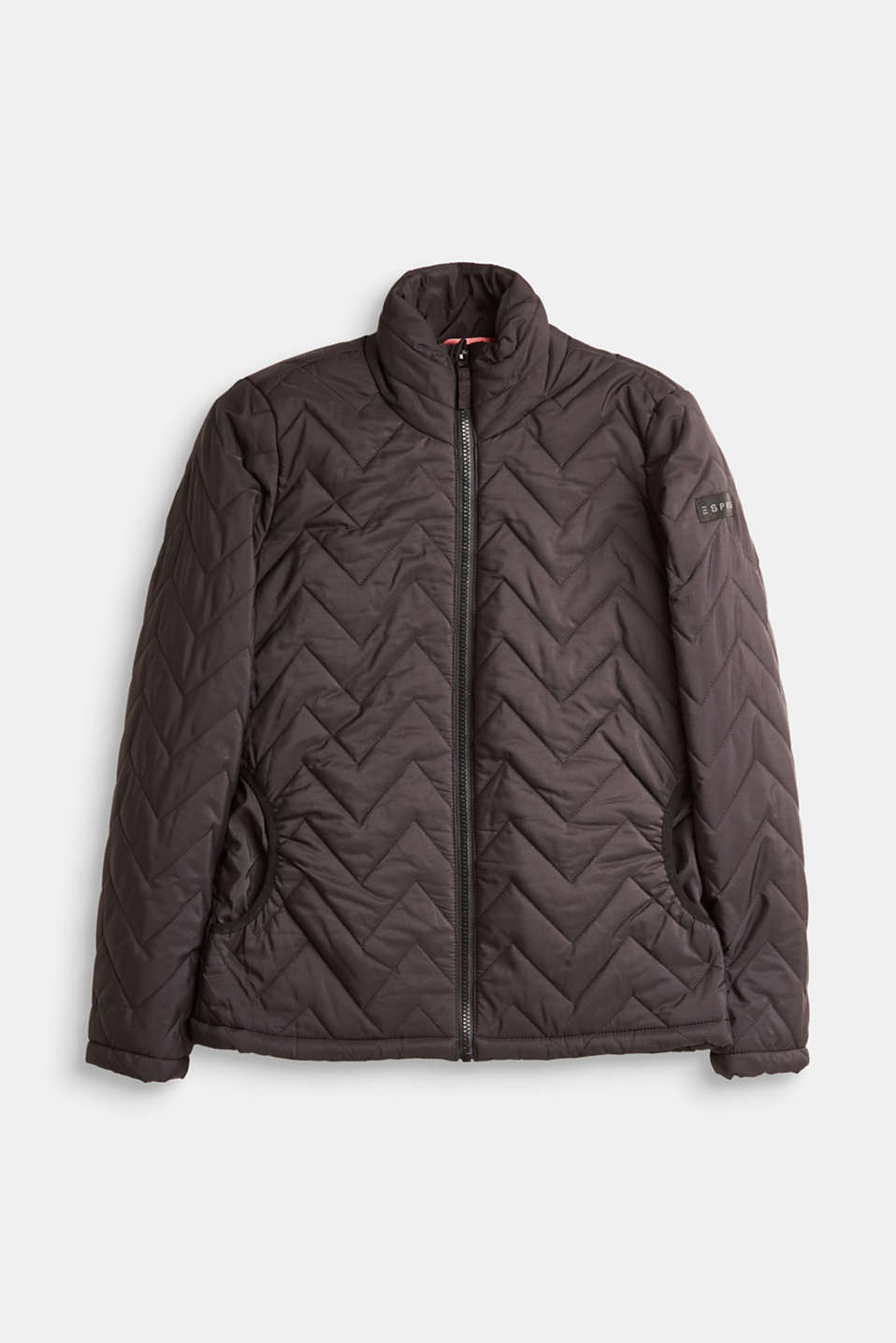 Esprit - Lightweight quilted jacket with a stand-up collar