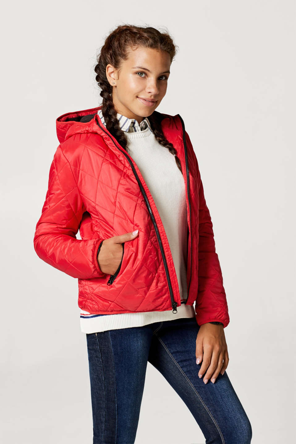 Jackets outdoor woven, LCPOPPY RED, detail image number 2