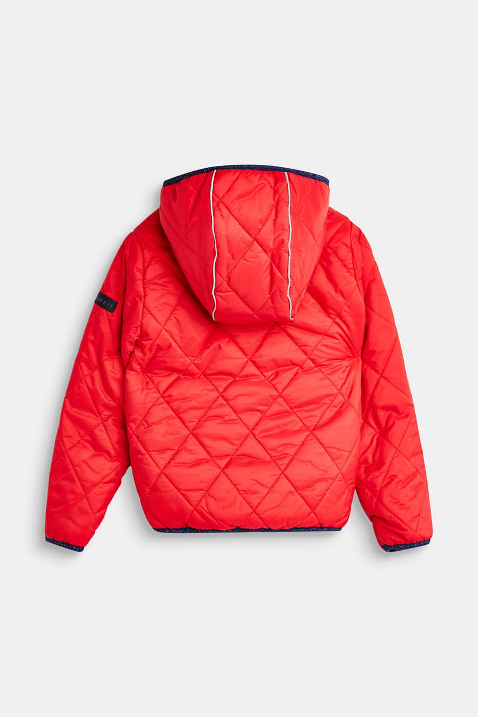 Quilted jacket with fleece lining, LCPOPPY RED, detail image number 1