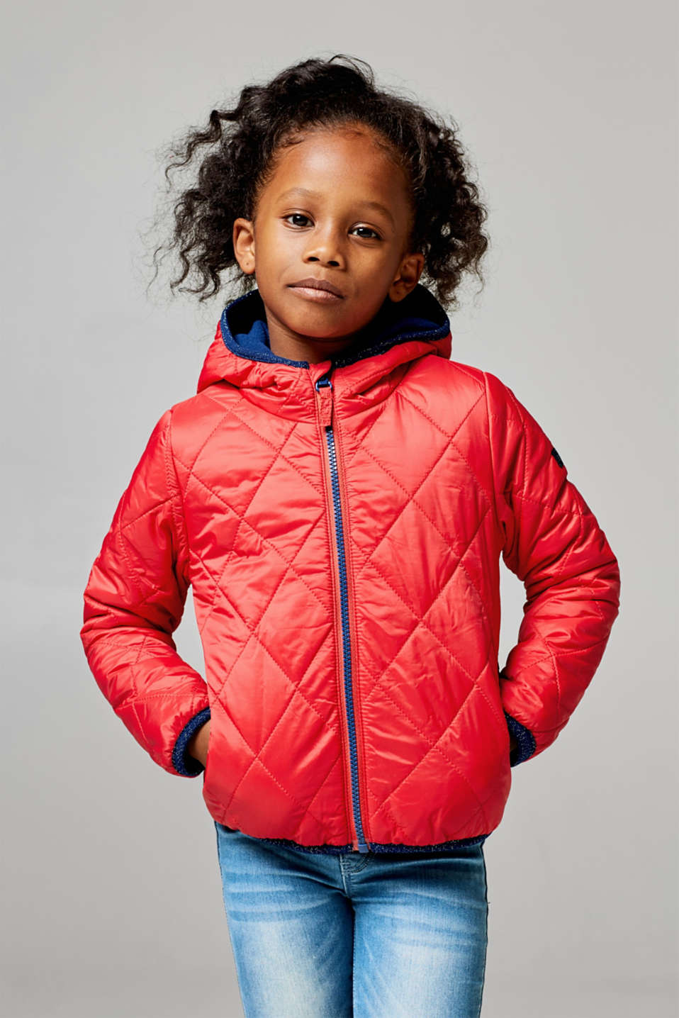 Quilted jacket with fleece lining, LCPOPPY RED, detail image number 2