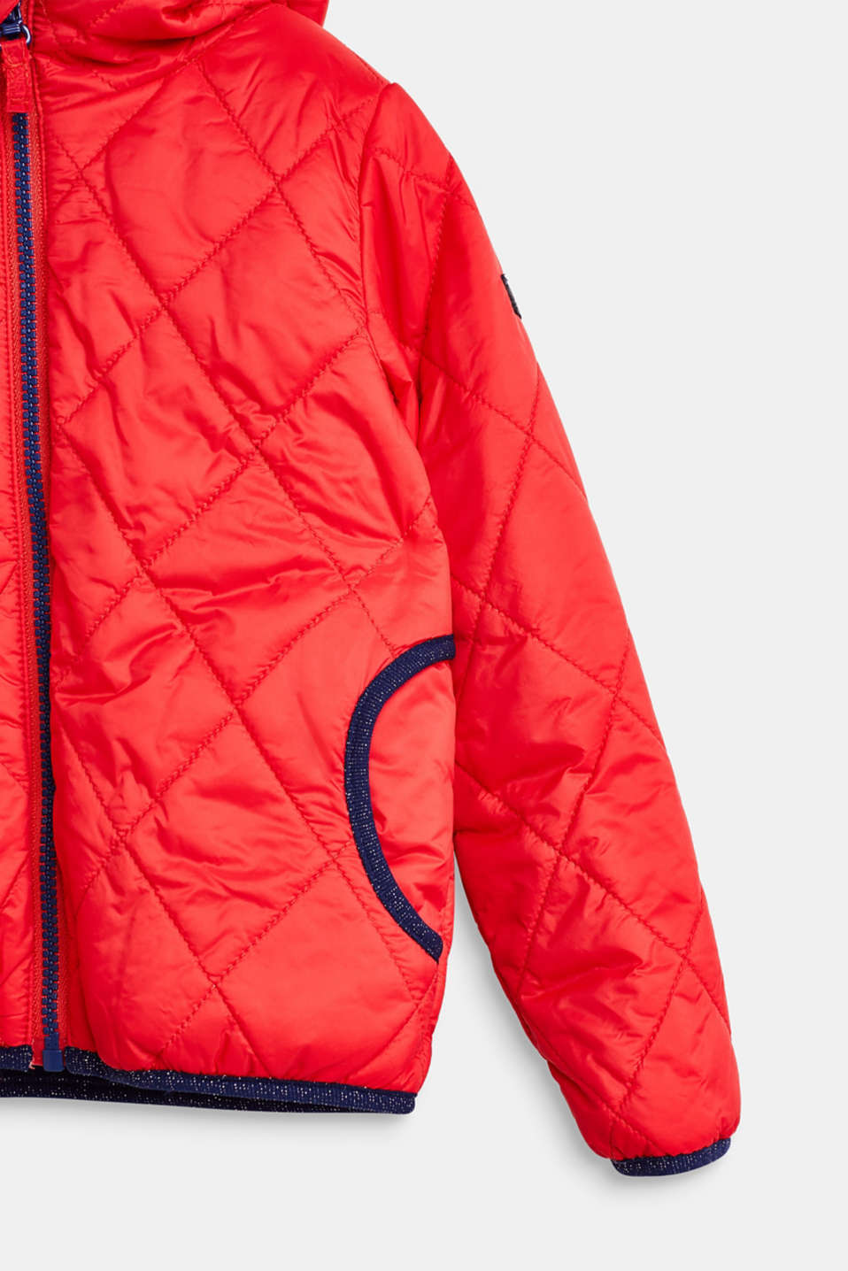 Quilted jacket with fleece lining, LCPOPPY RED, detail image number 3