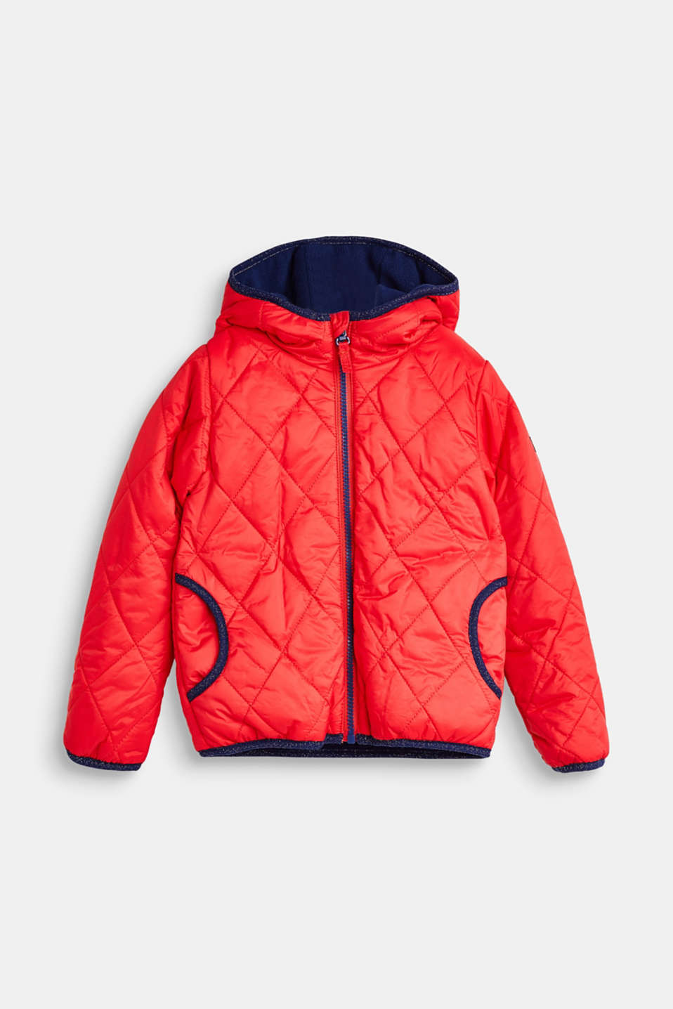 Quilted jacket with fleece lining, LCPOPPY RED, detail image number 0