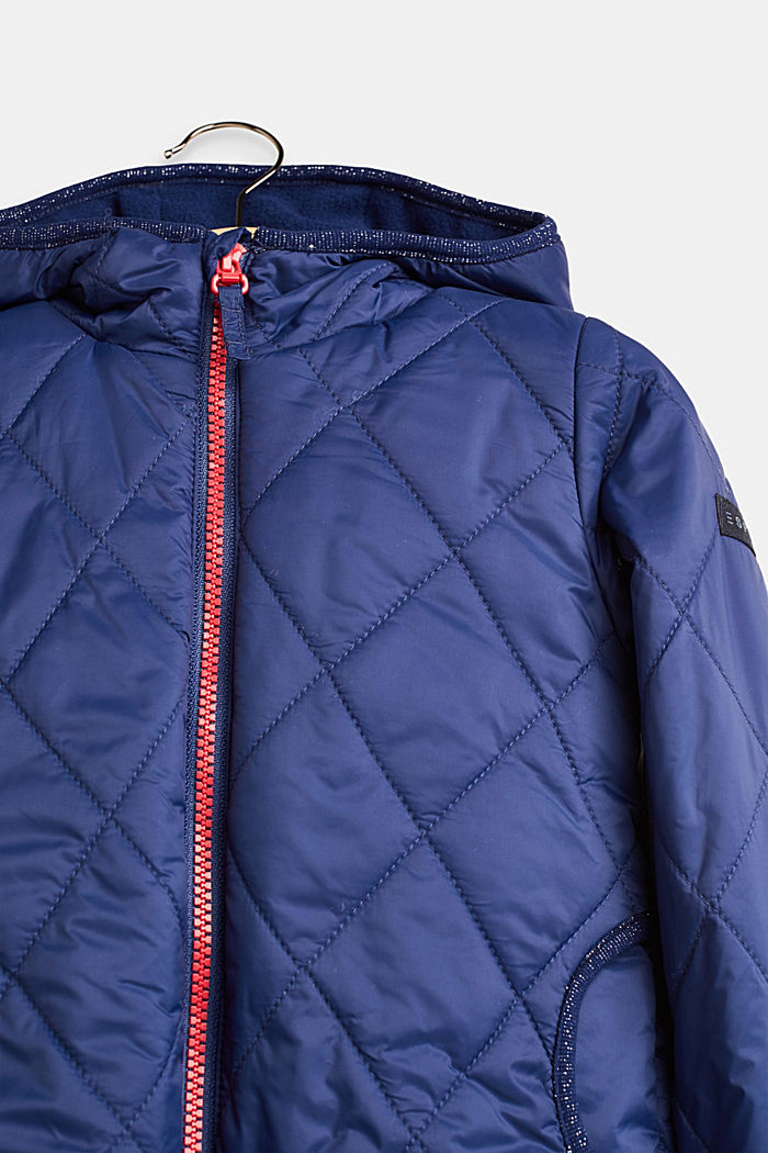 Quilted jacket with fleece lining, MARINE BLUE, detail image number 2