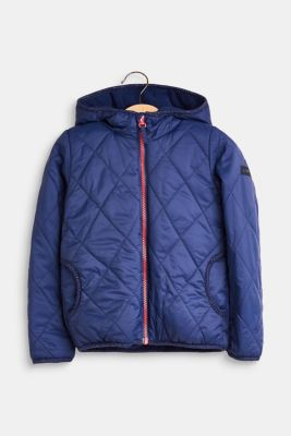 Quilted jacket with fleece lining, LCMARINE BLUE, detail