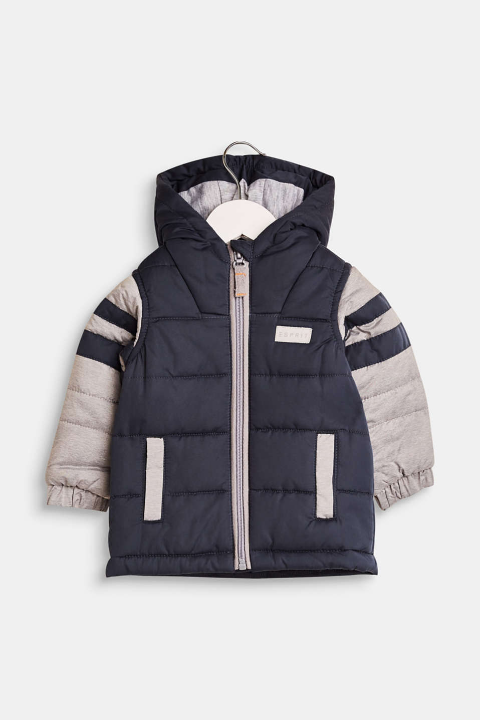 Esprit - Quilted jacket with a hood