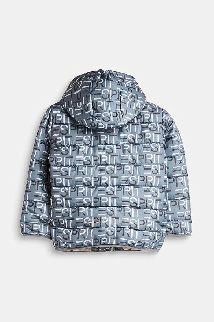 Gewatteerde jas met logo en een variabele capuchon, PEEBLE, detail image number 1