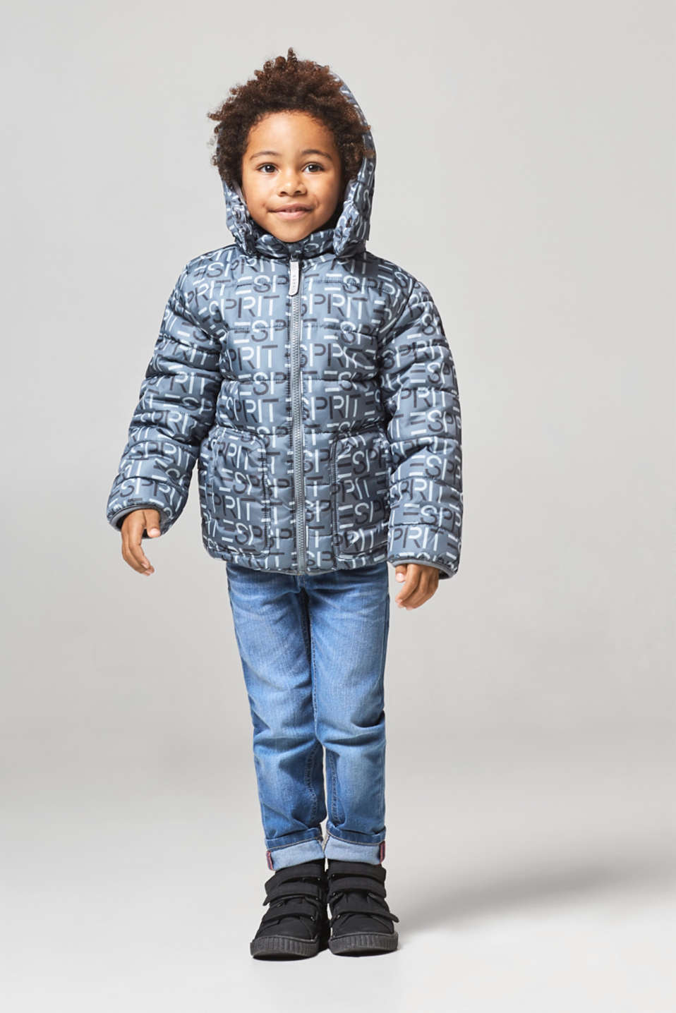Logo quilted jacket with a versatile hood, LCPEEBLE, detail image number 2