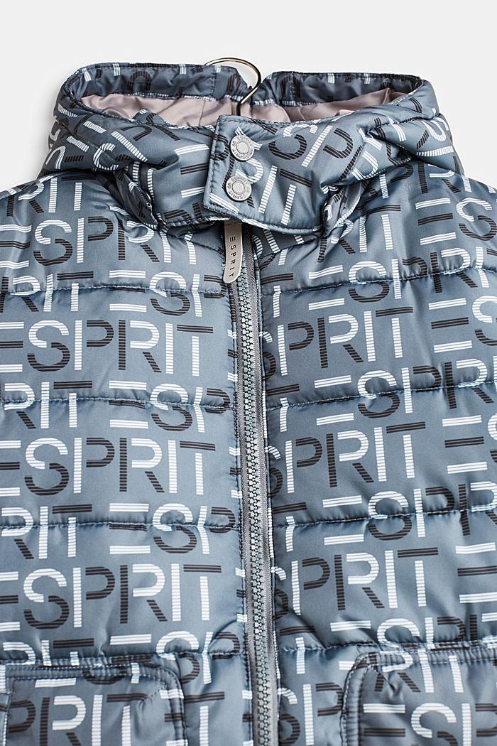 Gewatteerde jas met logo en een variabele capuchon, PEEBLE, detail image number 3
