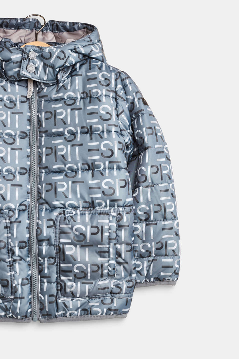 Logo quilted jacket with a versatile hood, LCPEEBLE, detail image number 4