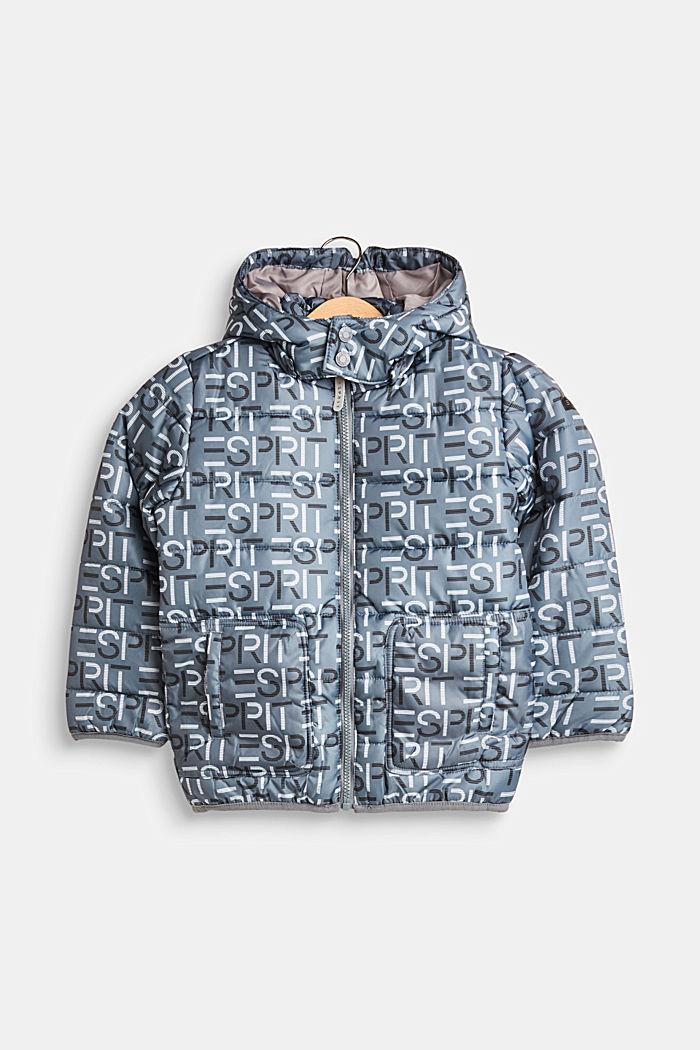 Gewatteerde jas met logo en een variabele capuchon, PEEBLE, detail image number 0