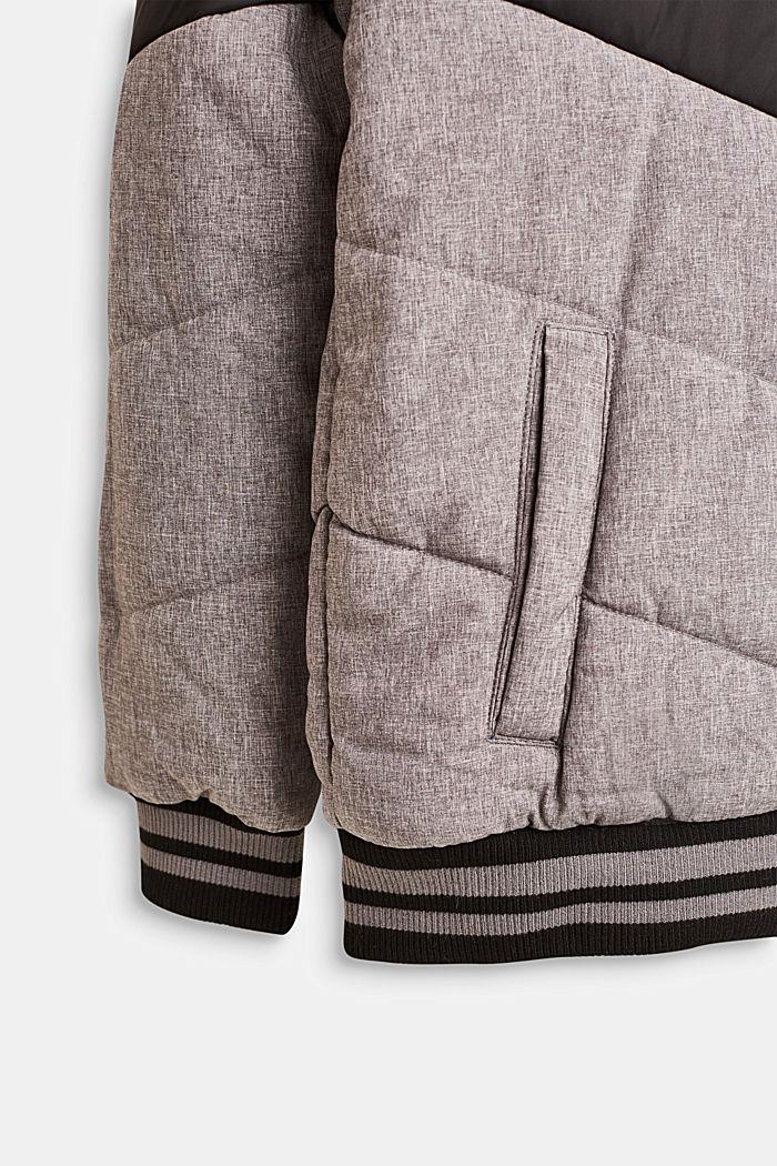 Wattierte Colorblock-Jacke mit Kapuze, LCDARK HEATHER G, detail image number 5