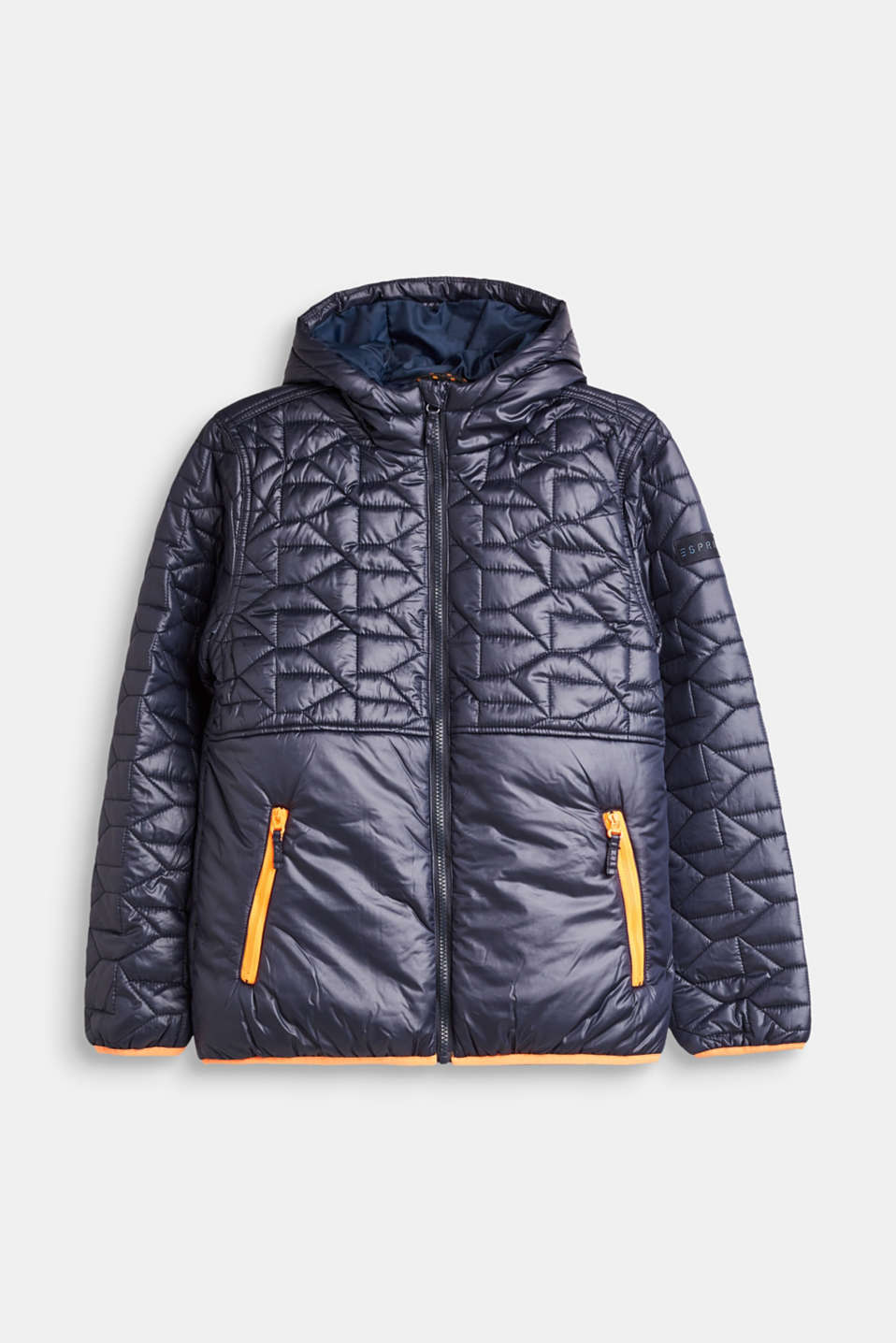 Esprit - Padded, quilted jacket with neon details