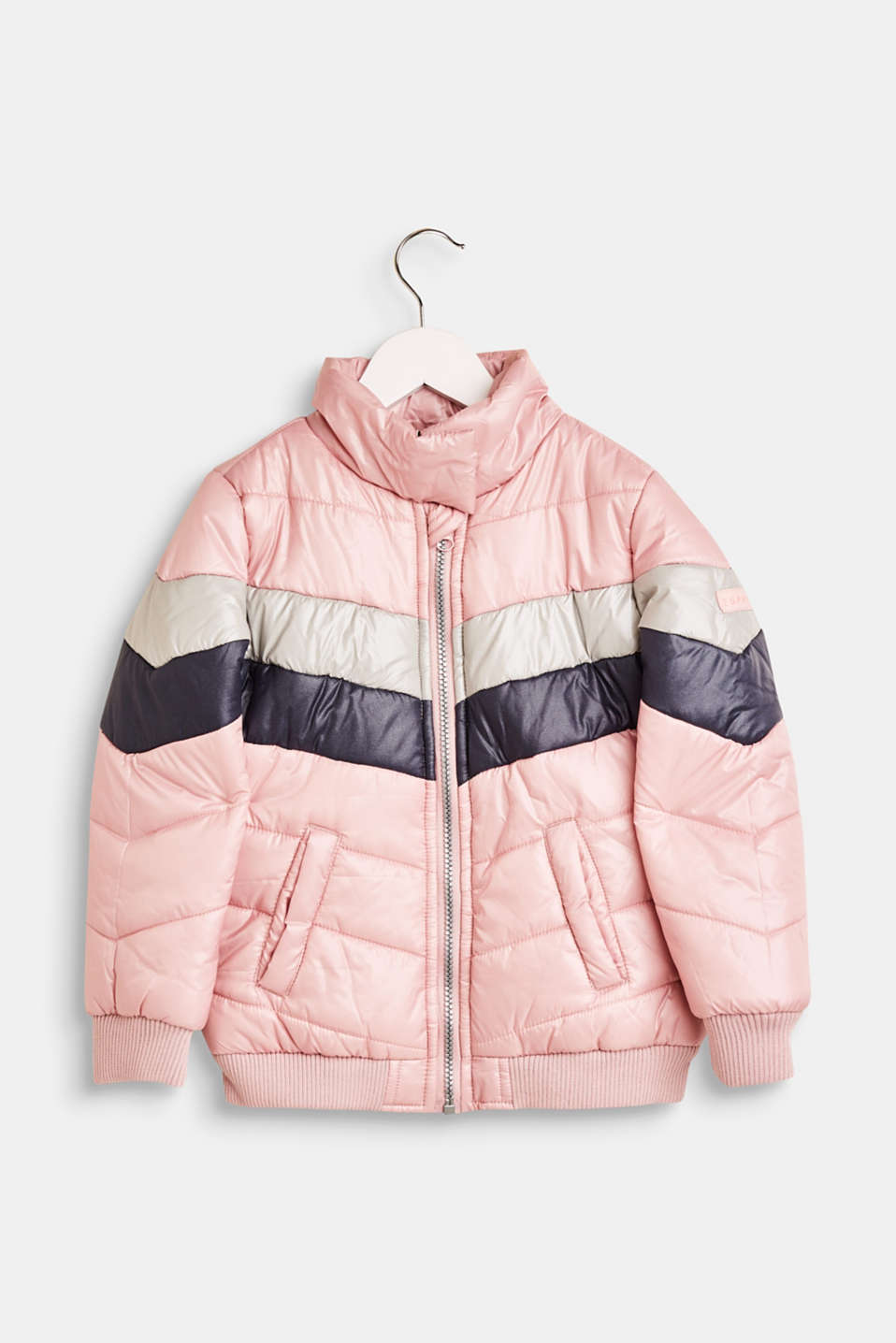 Esprit - Quilted jacket with a high collar