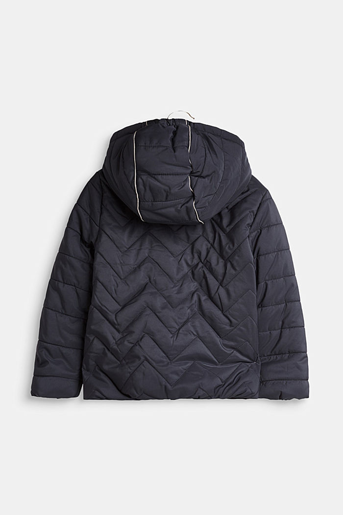 Padded quilted jacket with a hood, MIDNIGHT BLUE, detail image number 1