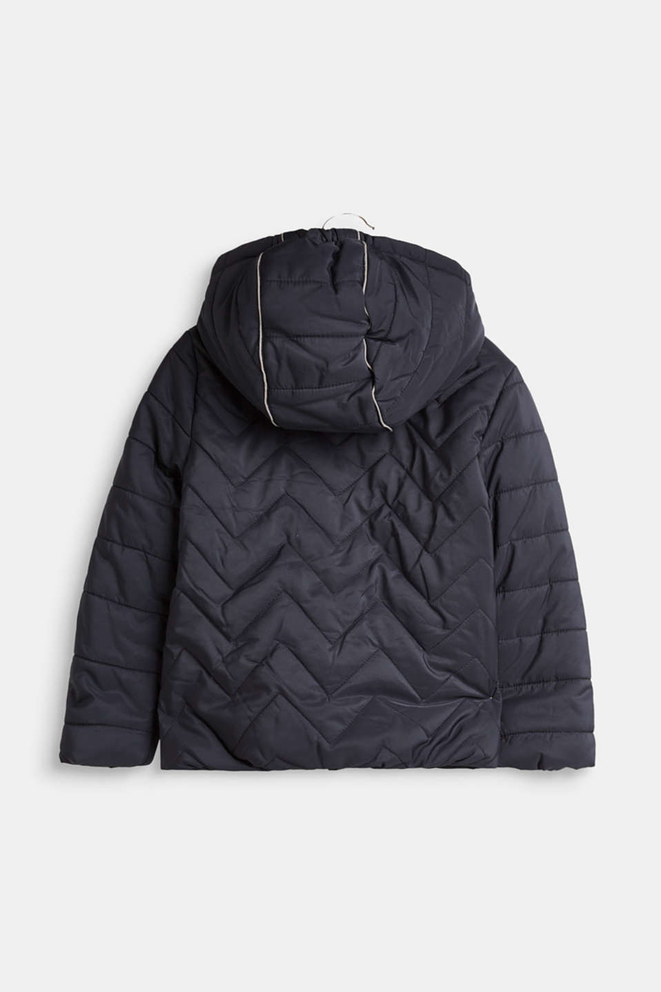 Padded quilted jacket with a hood, LCMIDNIGHT BLUE, detail image number 1