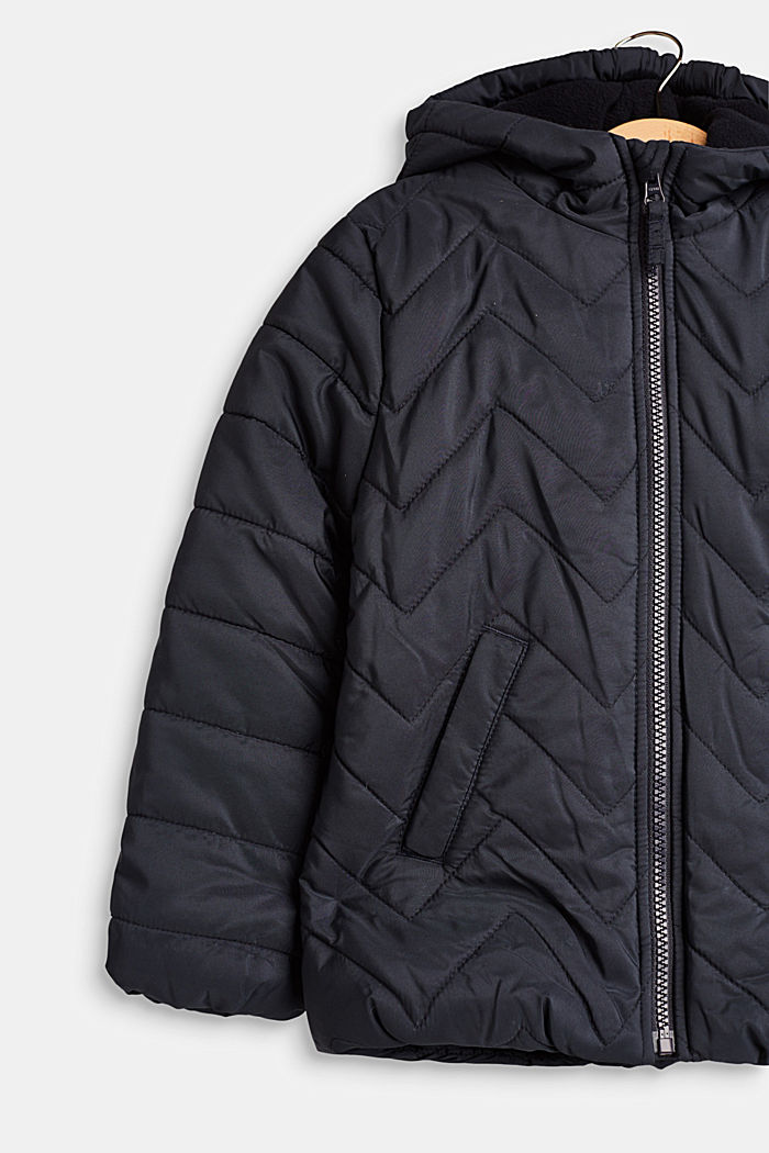 Padded quilted jacket with a hood, MIDNIGHT BLUE, detail image number 2