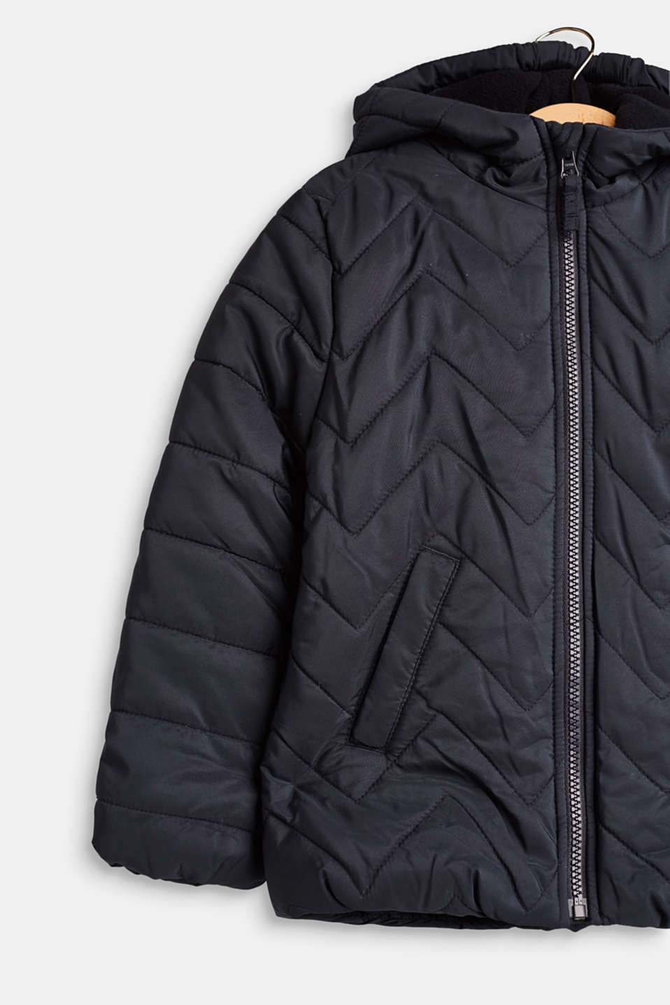 Padded quilted jacket with a hood, LCMIDNIGHT BLUE, detail image number 2