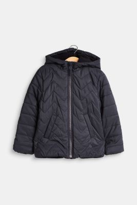Padded quilted jacket with a hood, LCMIDNIGHT BLUE, detail