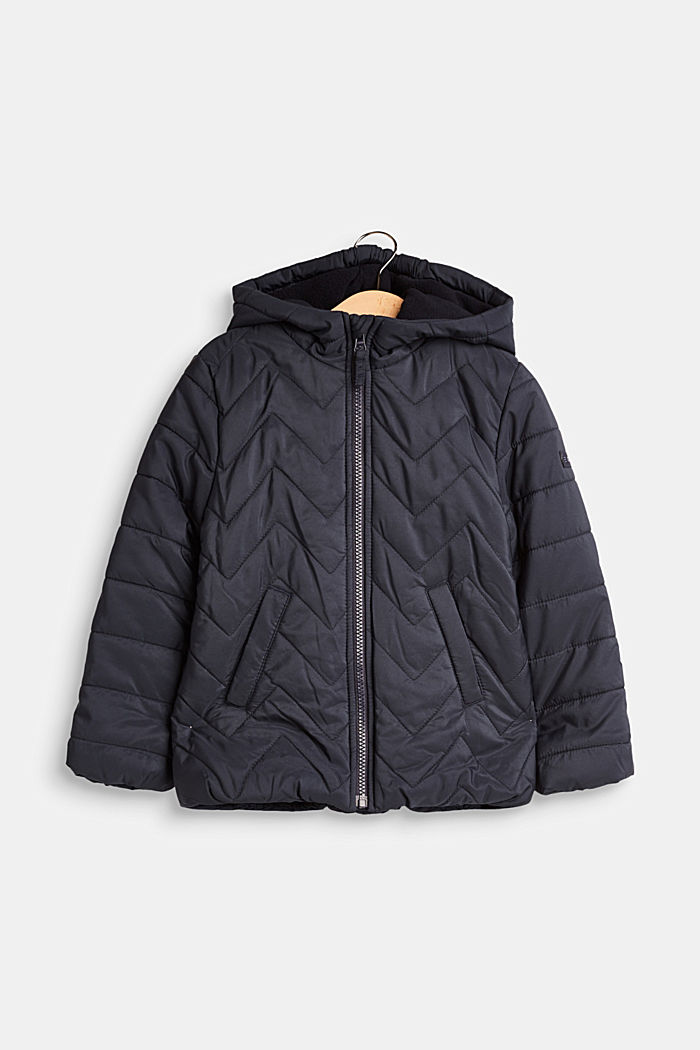 Padded quilted jacket with a hood, MIDNIGHT BLUE, detail image number 0