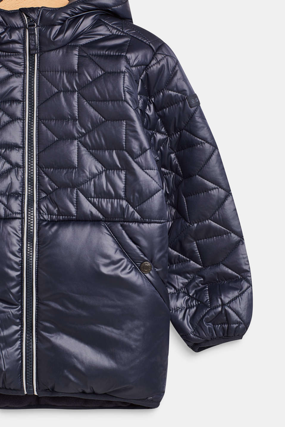 Padded quilted jacket with fleece lining, LCMIDNIGHT BLUE, detail image number 2