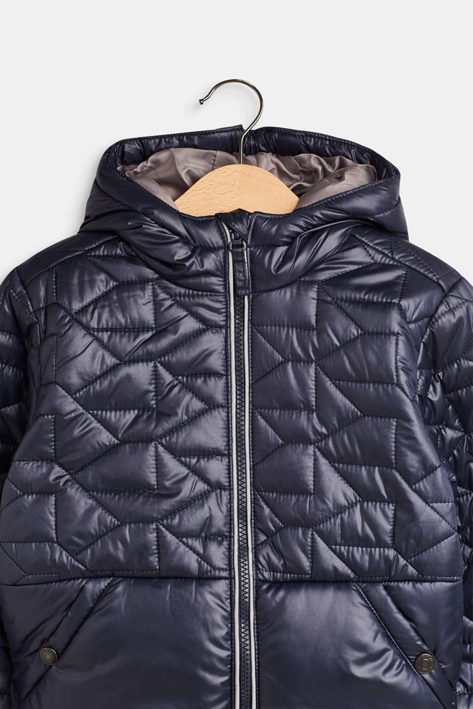 Padded quilted jacket with fleece lining, LCMIDNIGHT BLUE, detail image number 3
