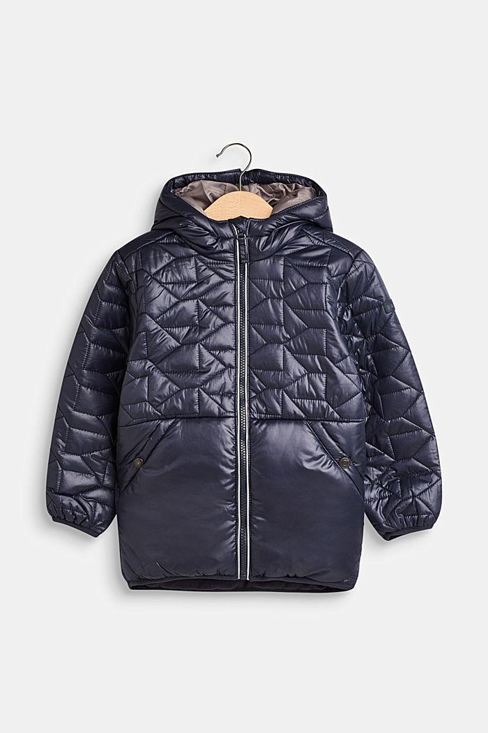 Gewatteerde jas met fleece voering