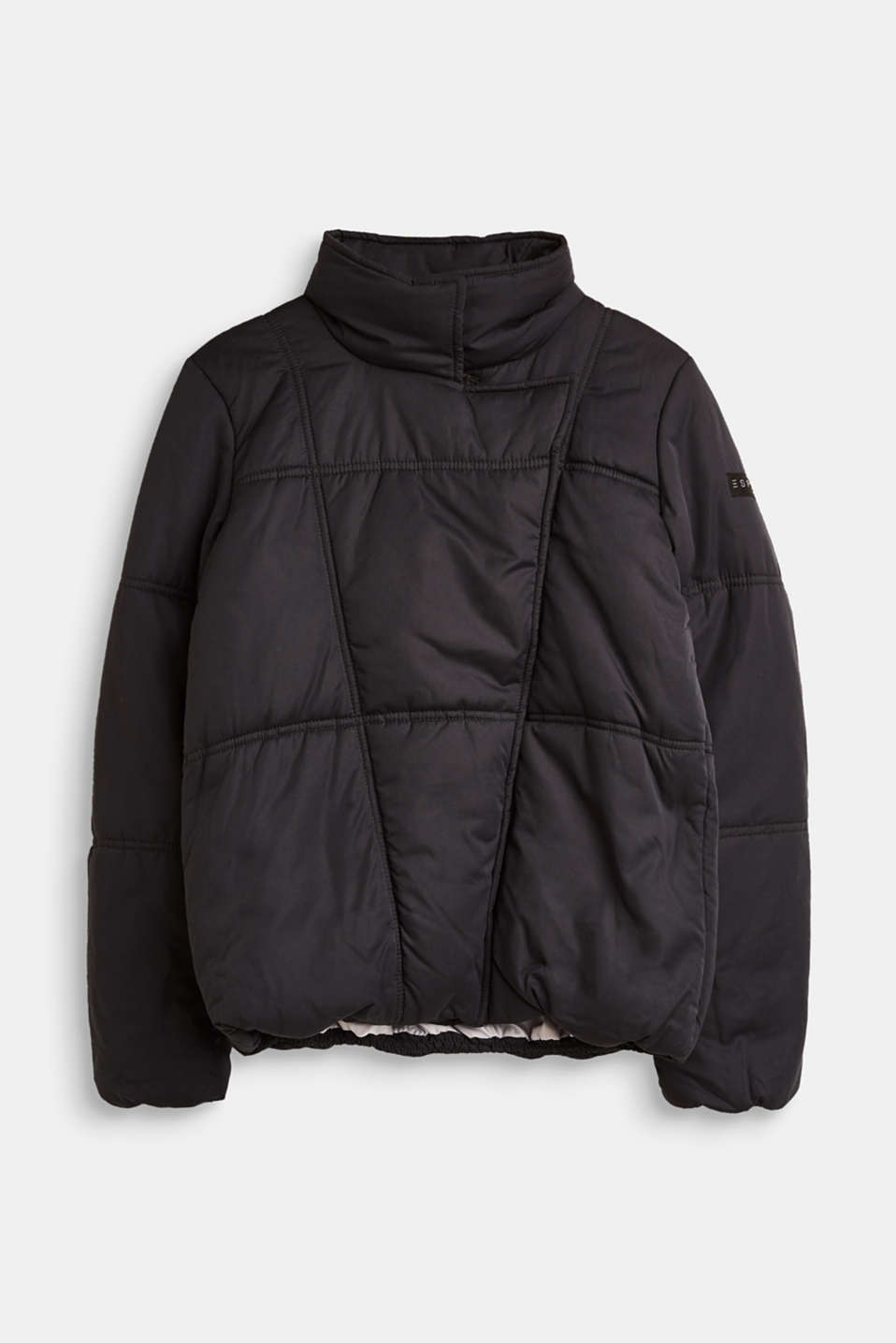Esprit - Asymmetric, bomber-style quilted jacket