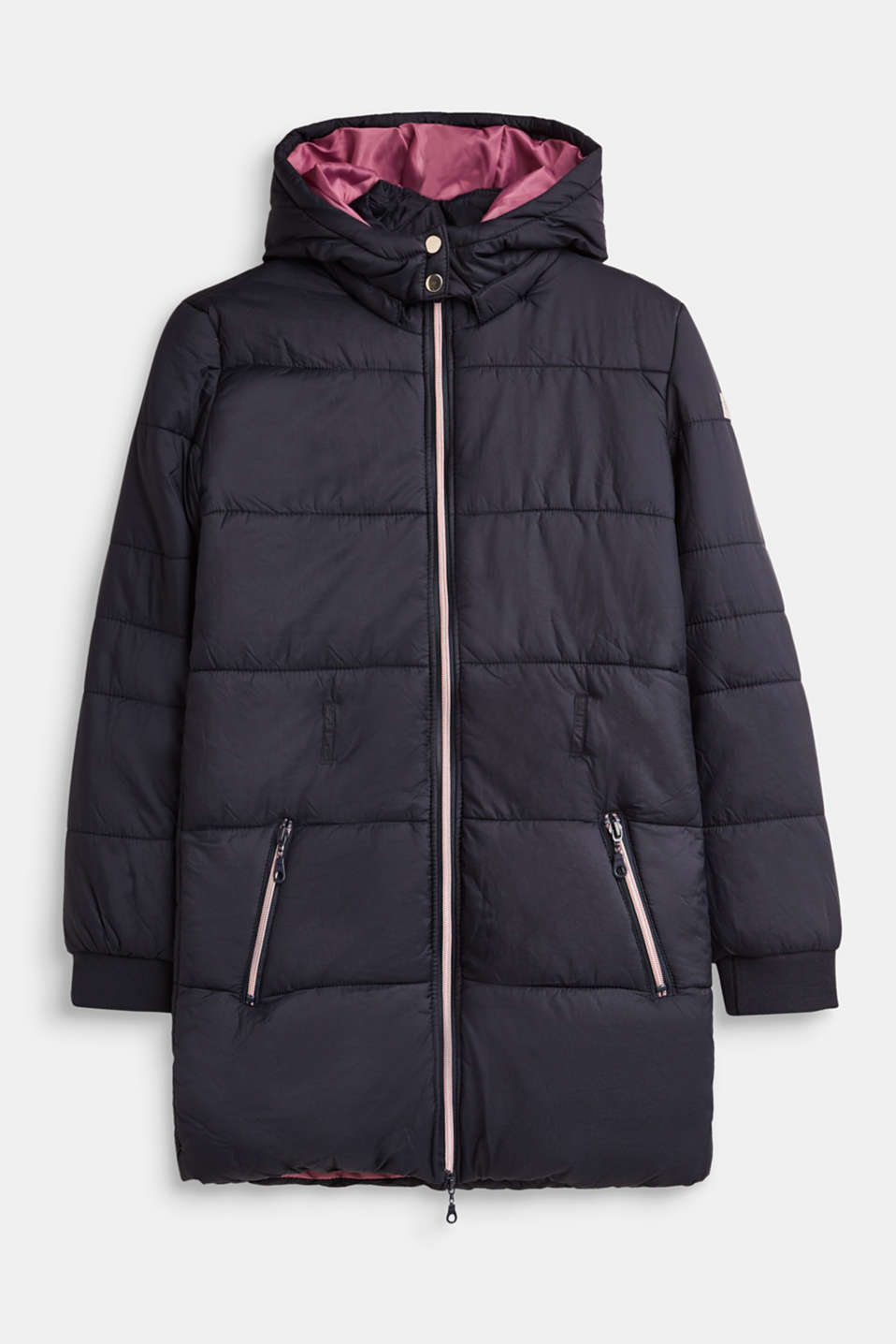 Esprit - Quilted coat with an adjustable belt