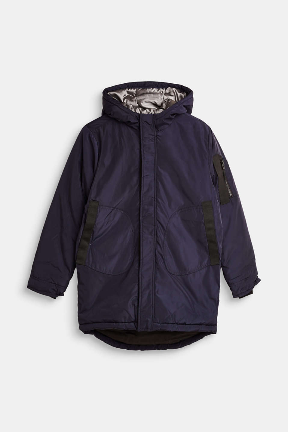 Esprit - Long, practical parka with padding