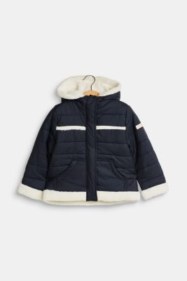 Outdoor jacket with teddy bear fur lining, LCMIDNIGHT BLUE, detail