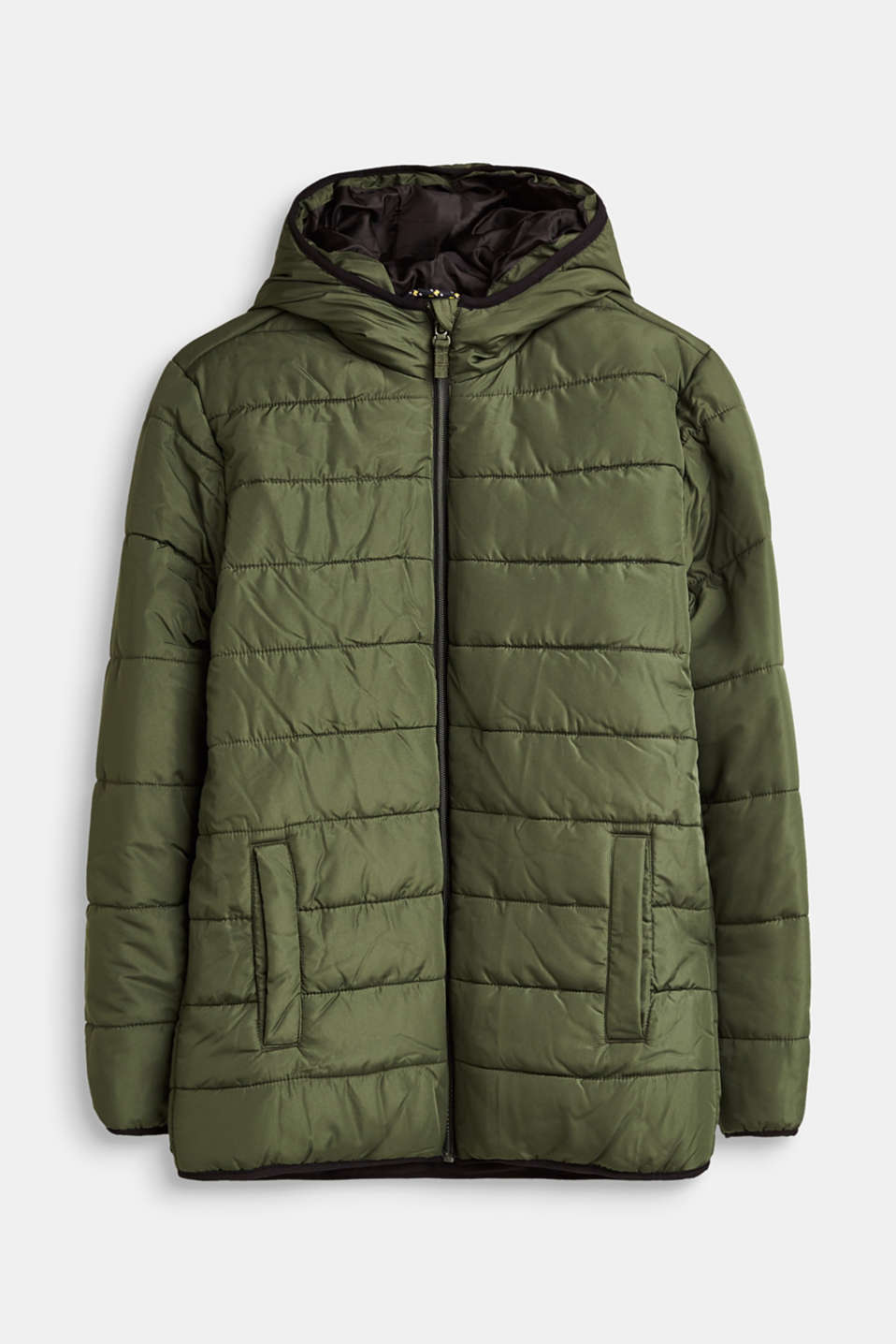 Esprit - Quilted jacket with fleece lining