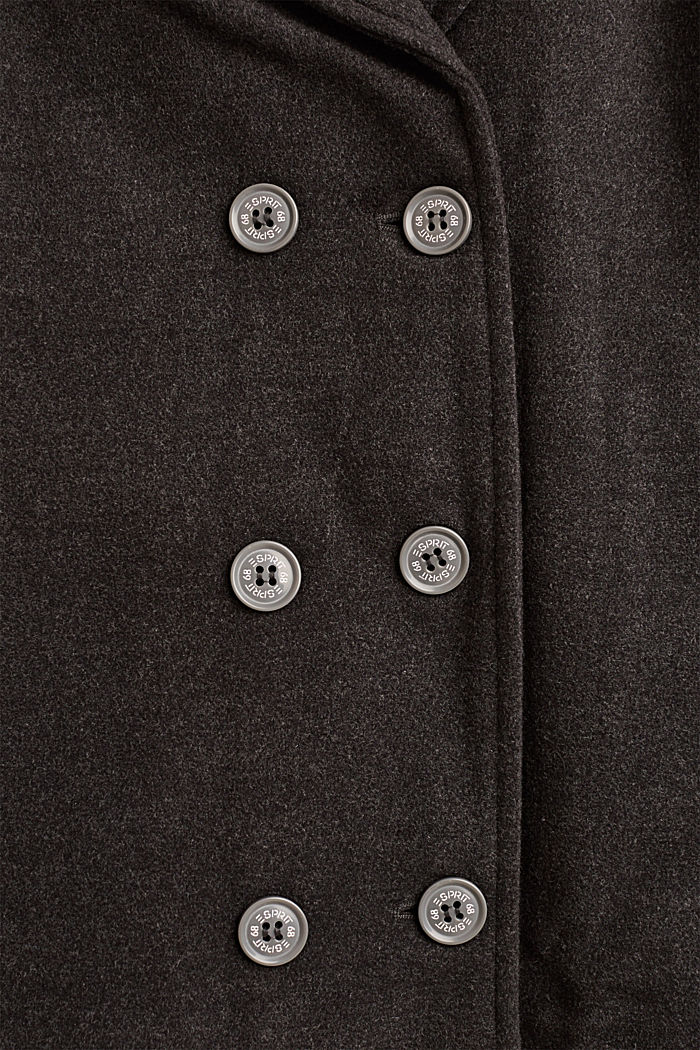 Caban met teddy voering, HEATHER ANTHRACITE, detail image number 3
