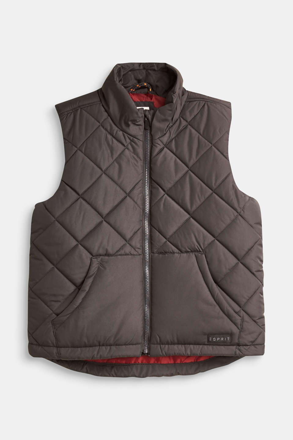 Esprit - Lightweight quilted bodywarmer with kangaroo pockets