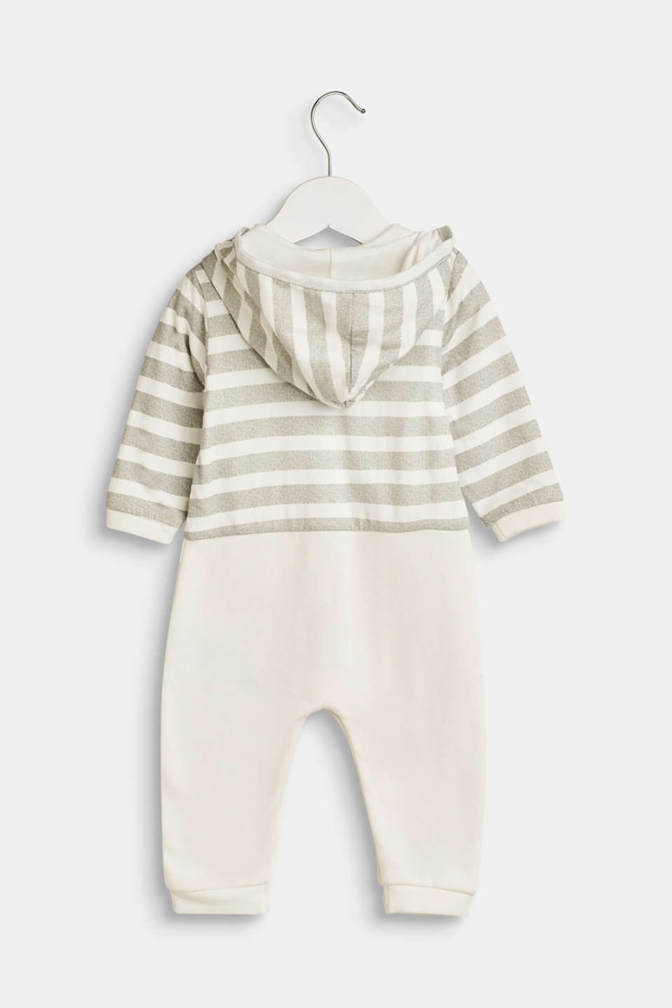 Romper suit made of sweatshirt fabric containing organic cotton, LCOFF WHITE, detail image number 1