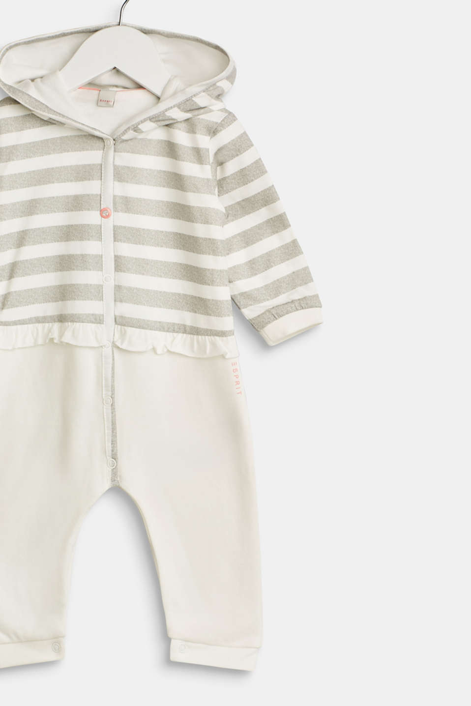 Romper suit made of sweatshirt fabric containing organic cotton, LCOFF WHITE, detail image number 2