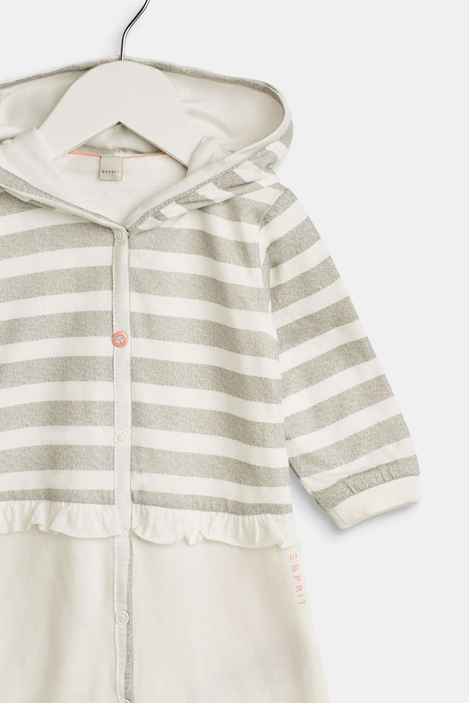 Romper suit made of sweatshirt fabric containing organic cotton, LCOFF WHITE, detail image number 3